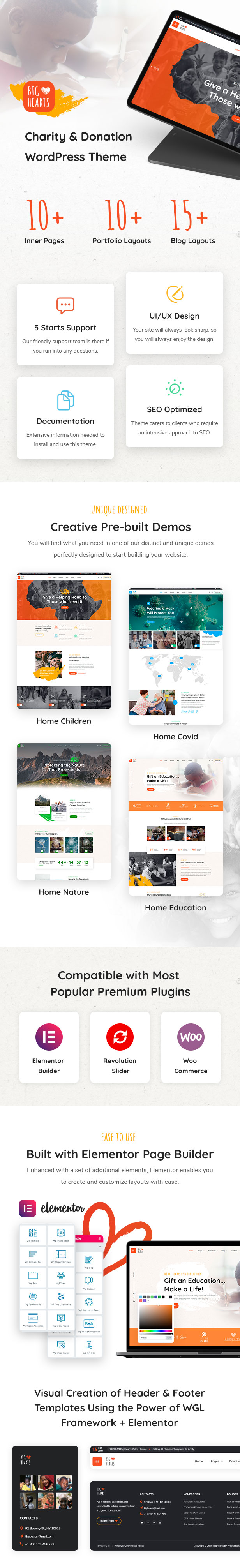 BigHearts - Charity & Donation WordPress Theme - 1